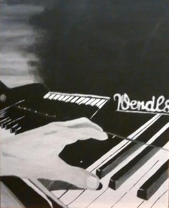 Main sur le piano. Angélina Créations Angélina Moine