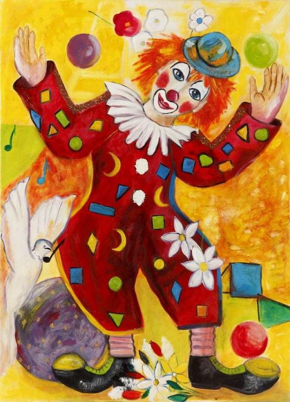 Clown en fete. Mestrel Ollivier Mestre
