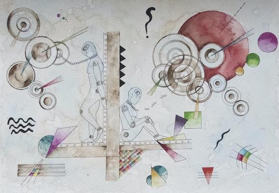 La dispute -Aquarelle sur papier. Katty Perdriolle Katty Perdriolle