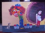 Le clown et la bimbo.