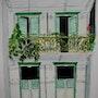 Aquarelle originale d'une maison coloniale en guadeloupe - signee du peintre. Mauguil