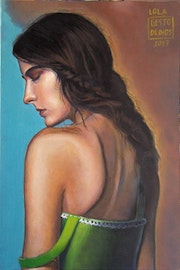 Lola, art, painting, woman's portrait, woman's oil, contemporary figurative pain.