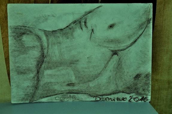 Torse nu. Domino (Patricia Lahure) Domino