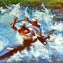 L'équipe de france de canoë kayak. Magendie Malo