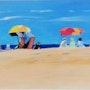 » Sous les parasols ». Yves Decaudan