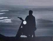 Le motard.