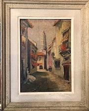 Südländische Straßenidylle - 1947 -. Finfel