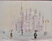 Le Duomo sous la pluie. Pitaro