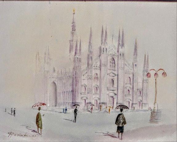 Le Duomo sous la pluie. Pirschel R. Pitaro