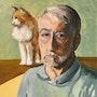Auto portrait au chat. Philippe Negre