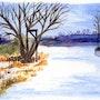 A Tree in Winter (Watercolor Postcard). Yrya-Chan