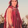2017-12-23 Belle kabyle (Algérie) Copie peinture orientaliste de 1870. Michel Normand
