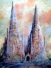 La Cathédrale de la Terre. 2007 Categoria: Pintura Técnica: Oleo Soporte: Papel. Alberto Thirion Garcia