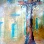 Cristo de Tejamen Categoria: Pintura Técnica: Oleo Soporte: Papel 57 X 89 cm.. Alberto Thirion Garcia