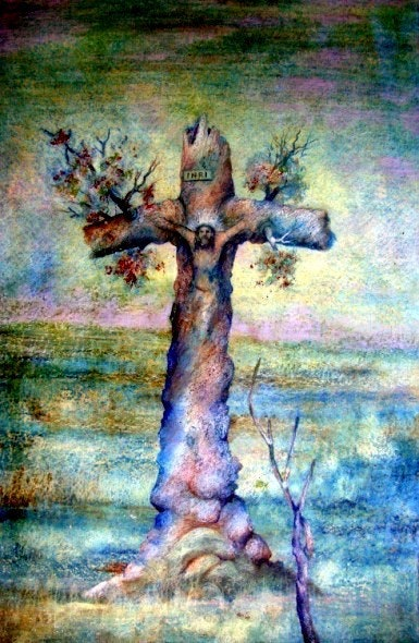 El Cristo de la Tierra Alberto Thirion 2004 Categoria: Pintura Técnica: Oleo. Alberto Thirion Alberto Thirion Garcia
