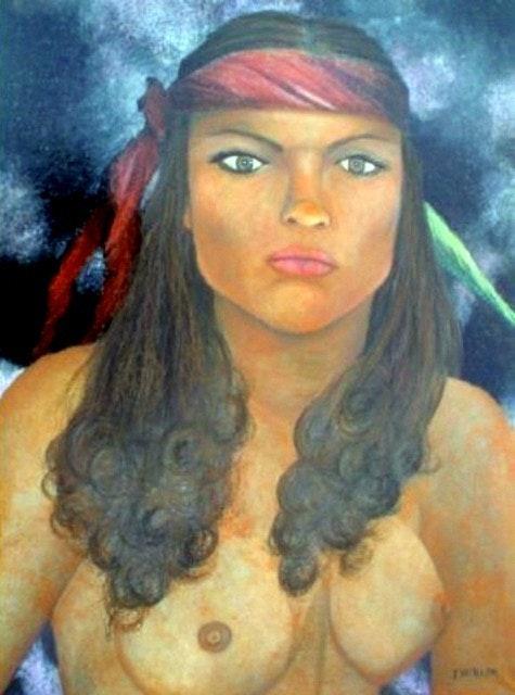 La Mujer Del Paliacate 2006 Categoria: Pintura Técnica: Oleo Soporte: Papel. Alberto Thirion Alberto Thirion Garcia