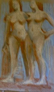 Deux nus debout. Quioc Laurent