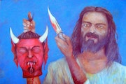 The Death of the Devil by Alberto Thirion 2005 Category: Painting Technique: Oil.