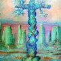 The cross of Christ By Alberto Thirion Category: Painting Technique: Oil. Alberto Thirion Garcia