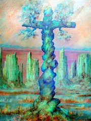 The cross of Christ By Alberto Thirion Category: Painting Technique: Oil.