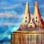 La Catedral Por Alberto Thirion 2005 Categoria: Pintura Técnica: Oleo. Alberto Thirion Garcia