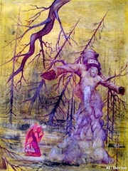 Christ and the devil Work of Alberto Thirion Category: Painting Technique: Oil.
