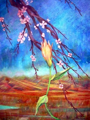 Title: The rising flower, Country: México Category: Painting, Support: Papel.