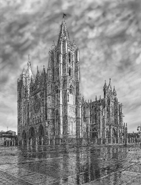 Catedral de León. Fragardel Francisco Garcia