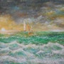 Orage sur l'Océan depuis mon observatoire sur La Côte Sauvage.. Patrick Nevoso