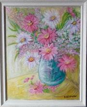 Le bouquet de fleurs.