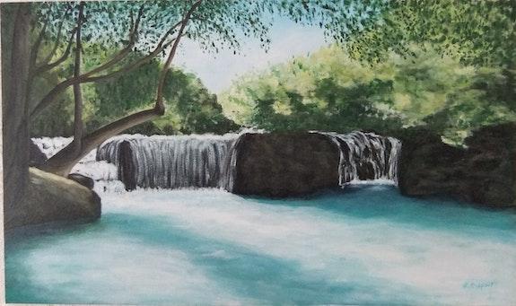 Fraicheur de la cascade. Lucienne Dupont Lucienne Dupont