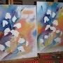 Triplette de coquelicots blancs. Pierrette Kuhn