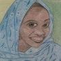 Belle femme africaine. Evelyne Patricia Lokrou
