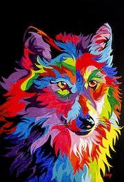 Mirada del lobo. Artbmg García
