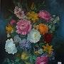 Vase avec des fleurs.