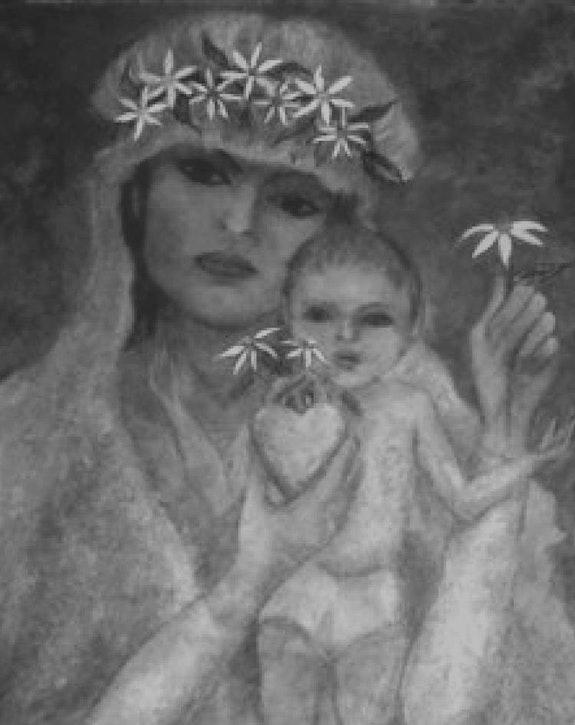Vierge à l'enfant Alberto Thirion 2016 Catégorie: Peinture Technique: Huile. Alberto Thirion Alberto Thirion Garcia