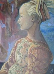 Portrait de jeune femme..