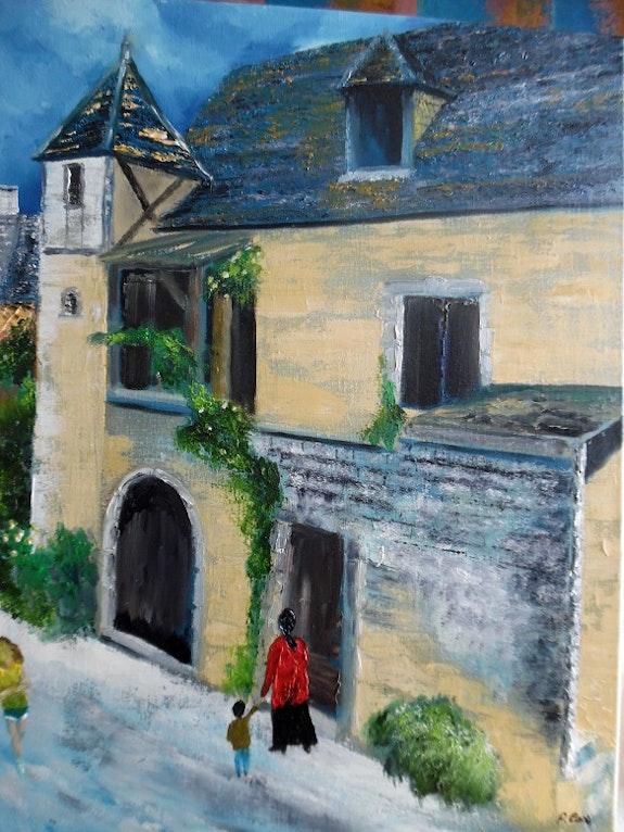 Village medieval. Pat Pat