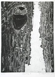 Venezia 3 (1981), Spiegelungen in einem kleinen Kanal. Hajo Horstmann