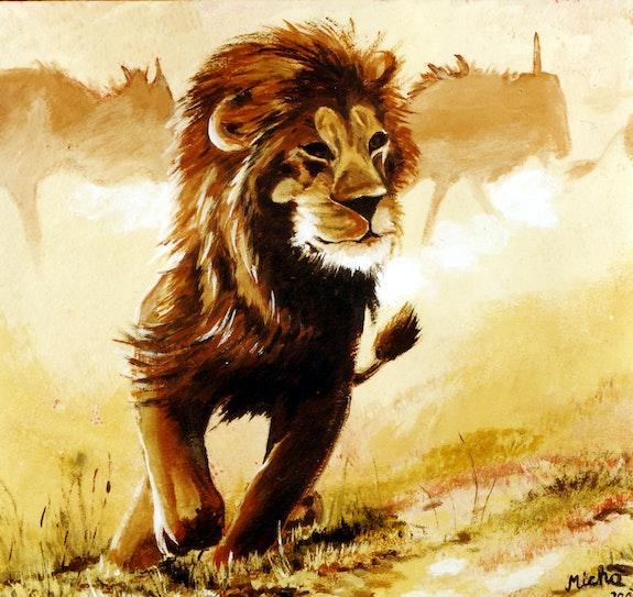 Löwe - Lion - Lion. Micha Guerin Micha Guerin