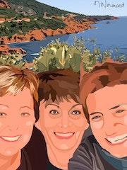 2018-01-10 Selfie des 3 copines… Michèle, Colette, Samia.