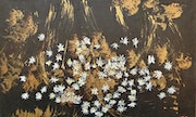 Daisies in Gold Abstraction. Michela Curtis