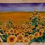 Sonnenblumen - Sun flowers - Tournesols. Micha Guerin