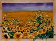 Sonnenblumen - Sun flowers - Tournesols.