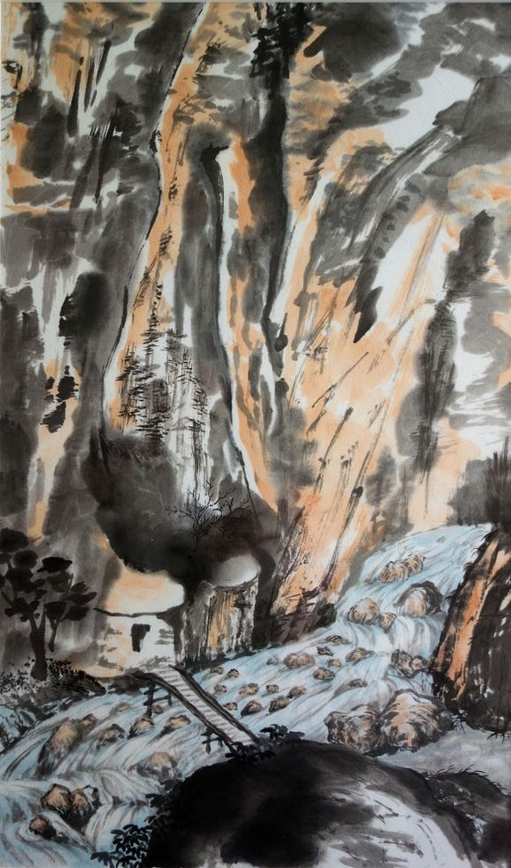 Les gorges de Samaria. Magdeleine Parisot Magdeleine Parisot