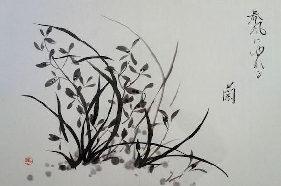 Les orchidées se balancent au vent. Magdeleine Parisot Magdeleine Parisot