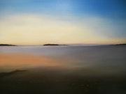 Crépuscule - Une promenade tôt le matin au bord d'une plage.