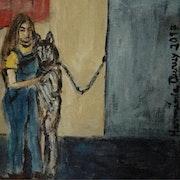 La petite fille et le chien. Herminia Duruy