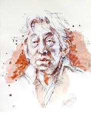 Portrait de Serge Gainsbourg.