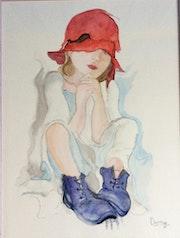 Fillette chapeau rouge.